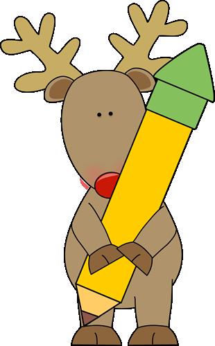 reindeer-holding-a-pencil
